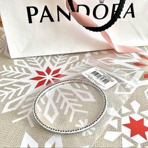 Auth Pandora Twinkling Forever Bracelet 925 Bangle